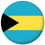 Bahamas Country Flag 25mm Flat Back